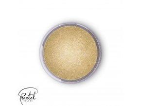 Jedlá prachová perleťová barva Fractal - Champagne Gold, Aranysárga (3 g)