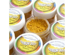 Prachová barva hořčicově žlutá Rainbow - Mustard