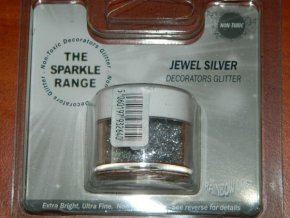 Dekorativní třpyty Rainbow Dust Sparkles Jewel - Silve - stříbrná