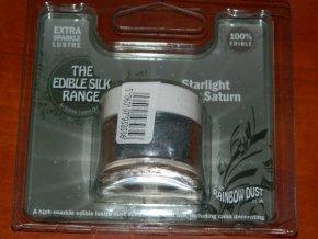 Prachová perleťová hvězdně stříbrná  Rainbow dust - Starlight Silver Saturn