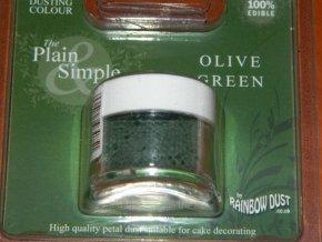RD Prachová barva olivově zelená Rainbow - Olive green 2,5g