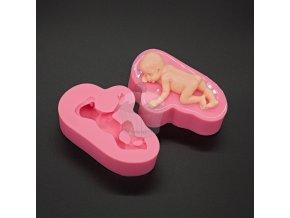Silikonová forma - Spící miminko
