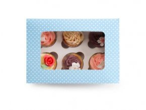 Ibili Krabička na cupcake - modrá 24x16cm 1ks