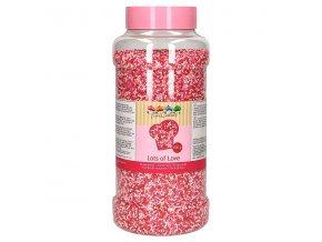 FunCakes  Cukrové perličky - máček růžový / bílý - 800g