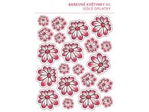 Jedlý papír karta - Květiny mix - nepravidelné - 21ks