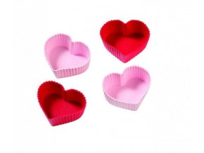 Silikonové formy na muffiny ve tvaru srdce - Birkmann