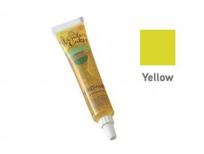 Barevný jedlý gel-žlutá 25g - Silikomart