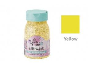 Miniperličky na zdobení 80g - žluté - Silikomart