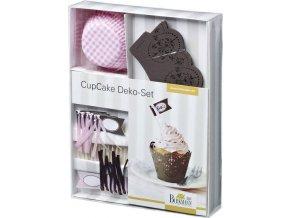 Sada na zdobení muffinů CHOCOLATE ROSÉ - Birkmann