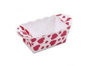 Papírový košíček 7cm x 4cm se srdíčky - Stadter