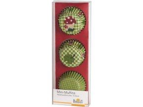 Košíčky na mini muffiny 72ks zelené 4,5cm - Birkmann