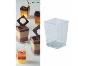 Kelímek PET Kubik čtverec (160 ml)