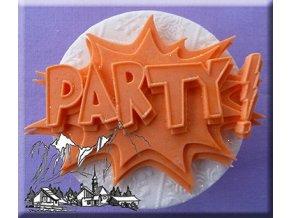 AM0311 Silikonová forma Nápis Party