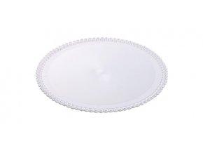 Tác plastový bílý kruh 28 cm (1 ks)