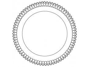 Tác plastový bílý kruh 22 cm (1 ks)