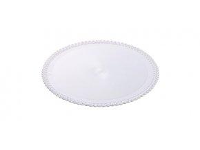 Tác plastový bílý kruh 24 cm (1 ks)