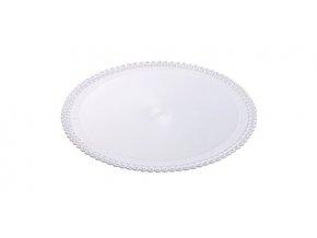 Tác plastový bílý kruh 26 cm (1 ks)