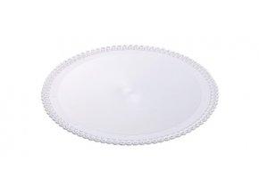 Tác plastový bílý kruh 30 cm (1 ks)