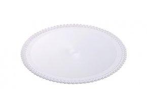Tác plastový bílý kruh 32 cm (1 ks)