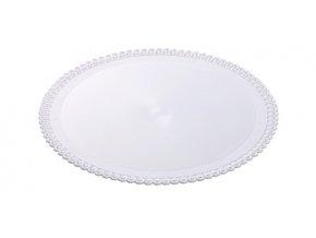 Tác plastový bílý kruh 34cm (1 ks)