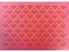 Stencil Srdíčka 30 x 20 cm