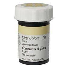 Gelová barva Wilton - IVORY 28g Složení: Cukr, kukuřičný sirup, glycerin E422, voda, modifikovaný škrob E1442, emulgátor agar E406, kyselina…