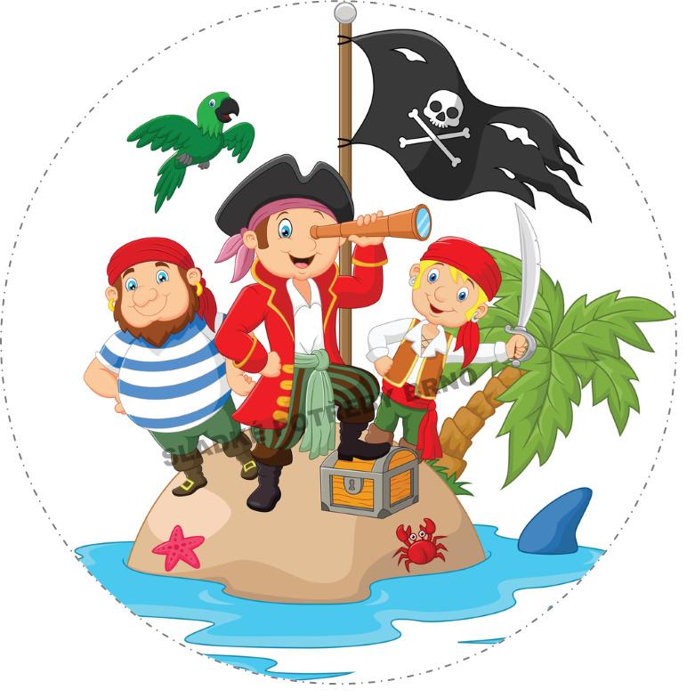 Jedlý papír na dort piráti