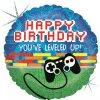 Foliový balonek Happy Birthday Game 46 cm - Grabo