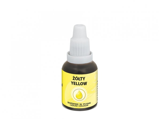 100265 airbrush barva tekuta food colours yellow 20 ml zluta