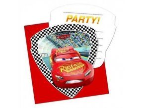 48485 1 party pozvanky cars 3 6 ks