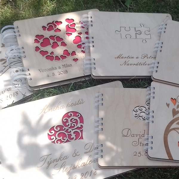 Dřevěné svatební knihy