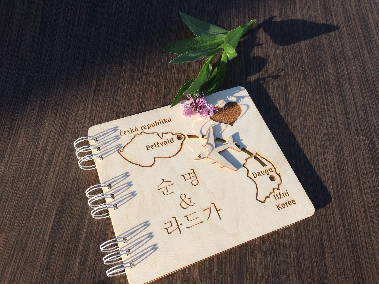 Svatební kniha hostů formát 19,5x22cm