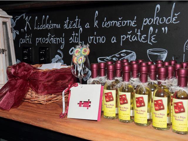 Svatební víno a minivíno
