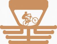 Věšák na medaile s motivem jízda horské kolo