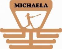 Věšák na medaile s motivem softball palkař žena