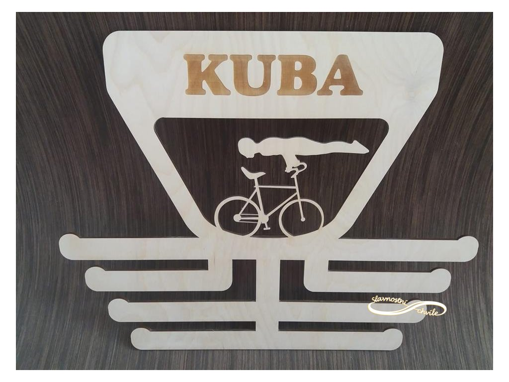 věšák na medaile cyklistická krasojízda