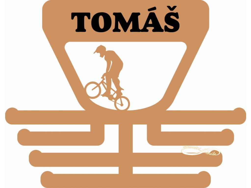Věšák na medaile BMX Bikros