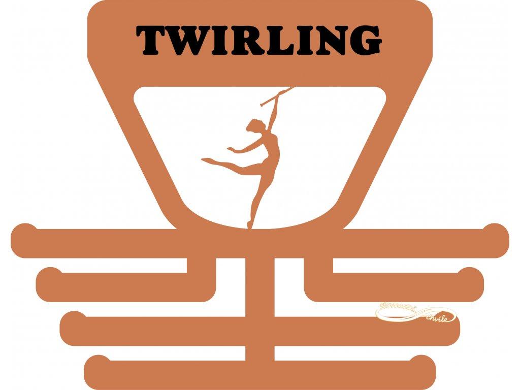 věšák na medaile mažoretka twirling