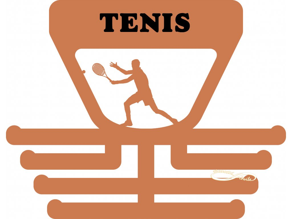 věšák na medaile tenis