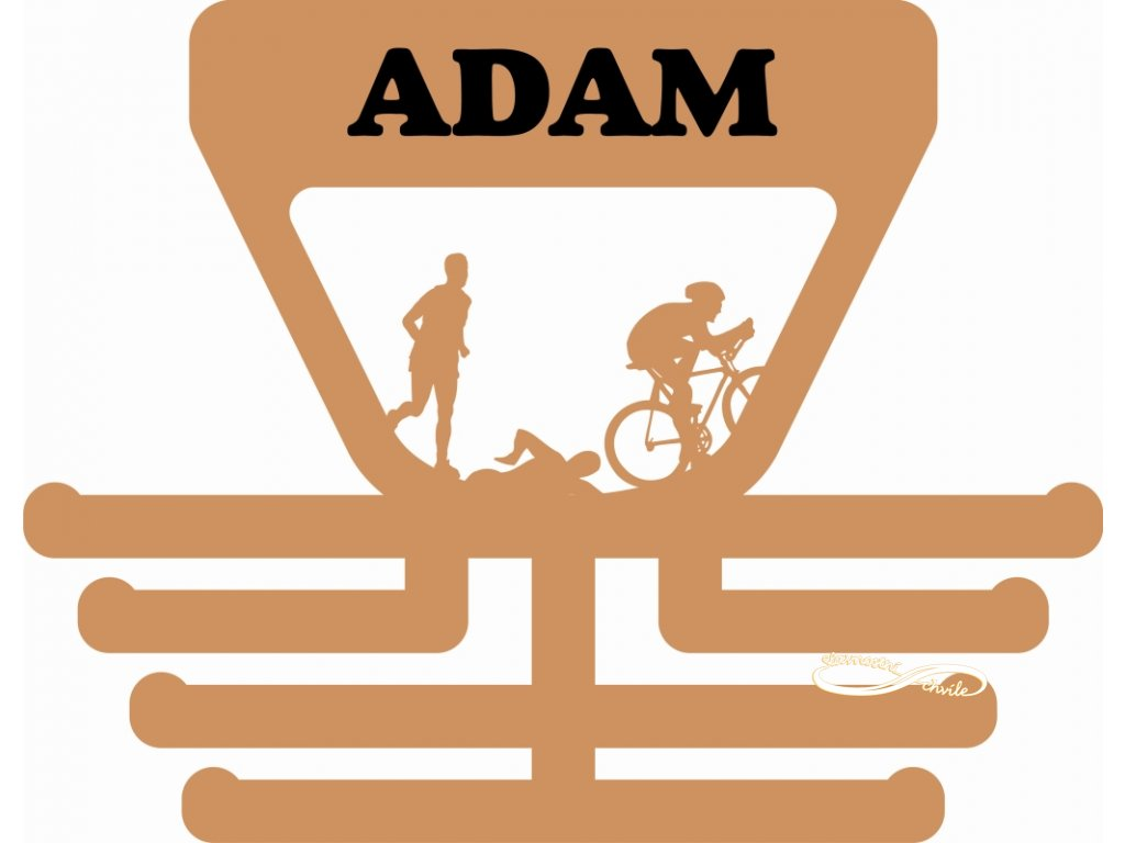 Účastníci triatlonu si také věšák na medaile zaslouží