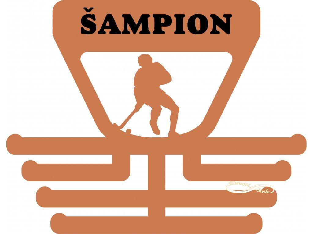 věšák na medaile pozemní hokej