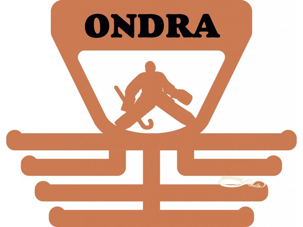 věšák na medaile pro brankáře pozemního hokeje
