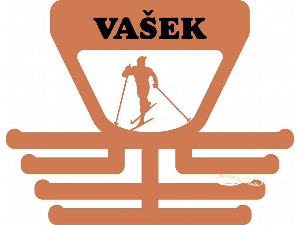 Držák na medaile s bšěžcem na lyžích