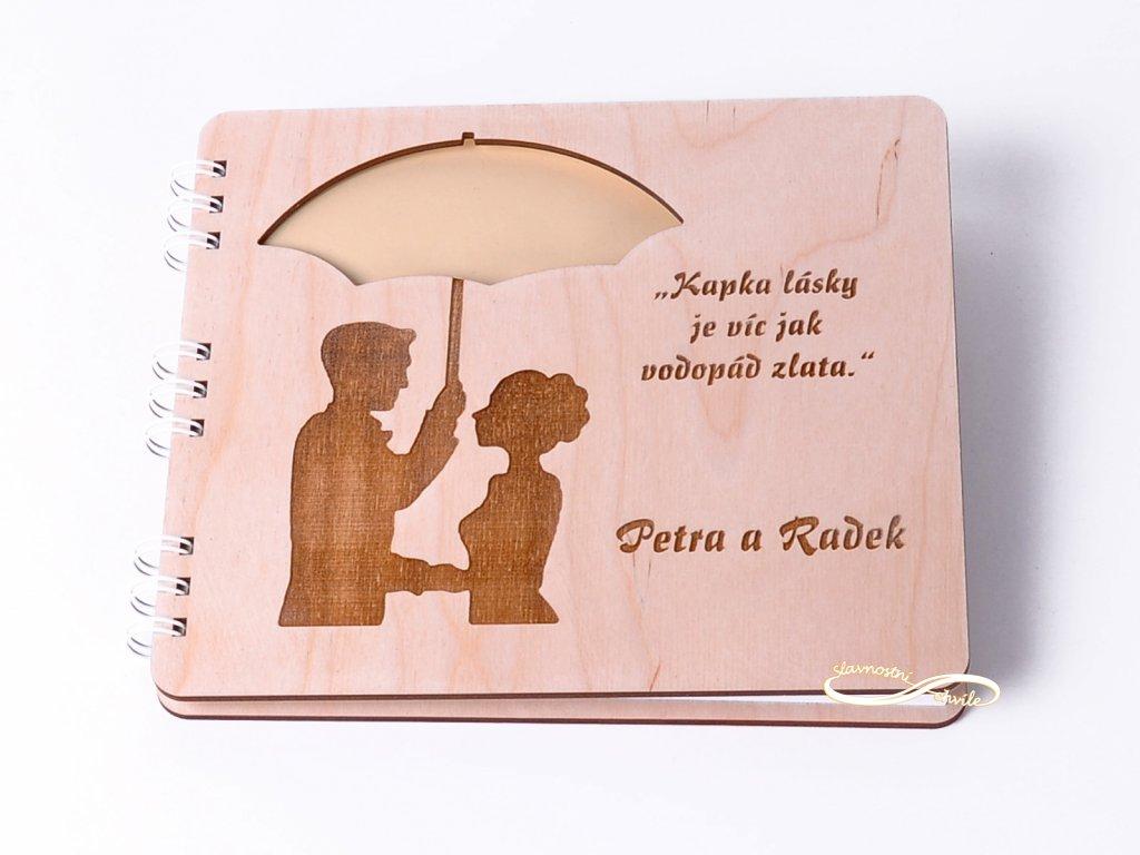 Svatební kniha dřevěná
