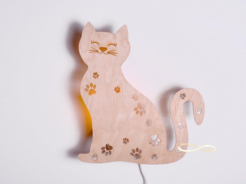 dětské nástěnné svítidlo kočka