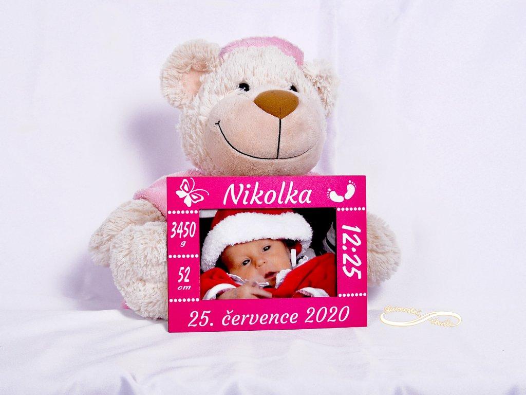 Fotorámeček k narození dítěte