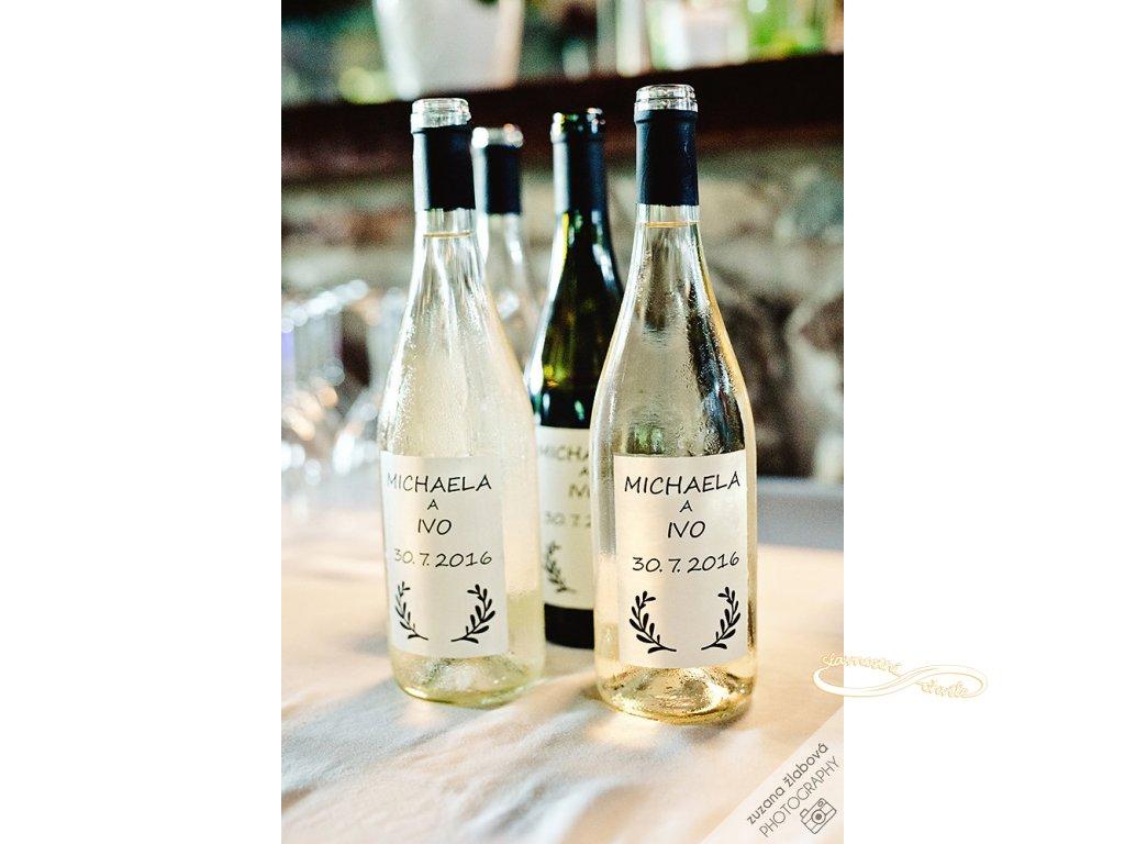 Svatební víno Cuvée Bílé