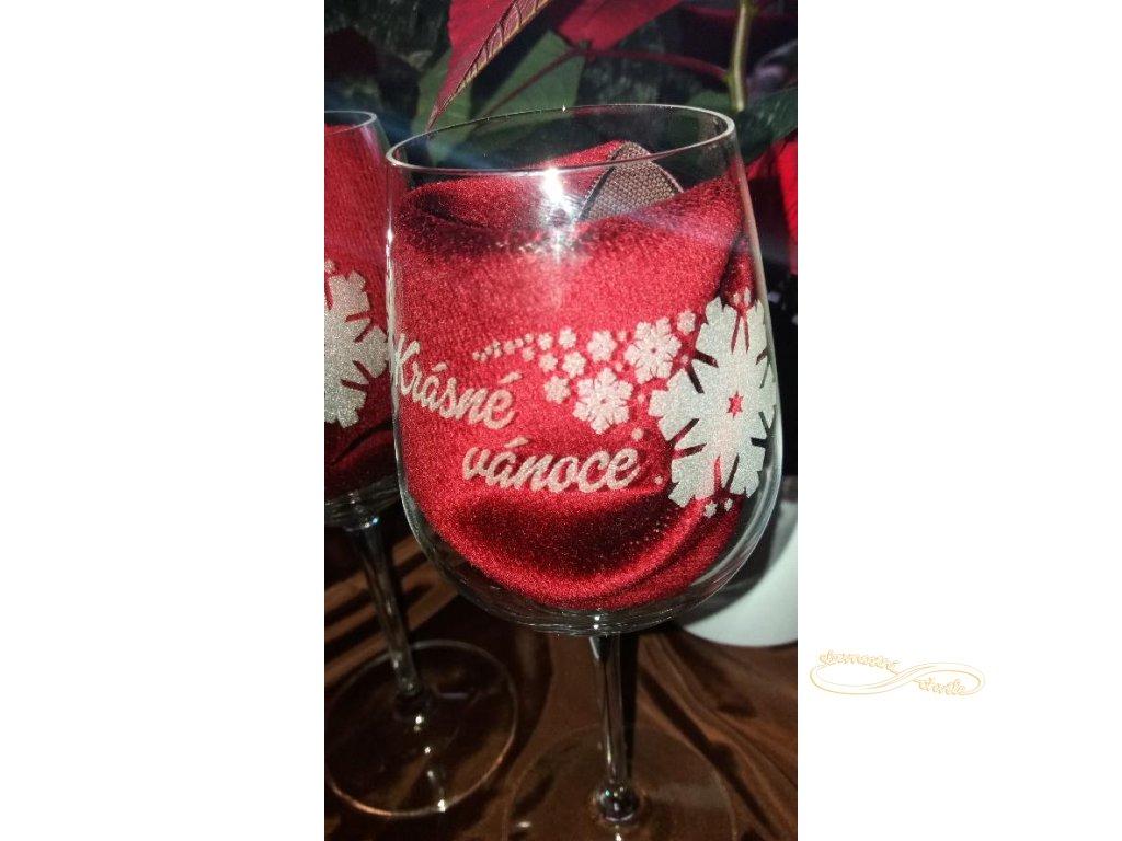 Gravírované skleničky - vánoční motiv