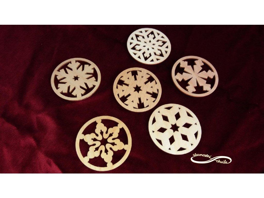 Dřevěný podtácek - vánoční motiv