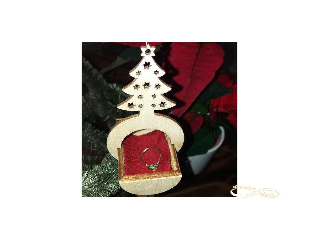 Krabička na prstýnek šperky